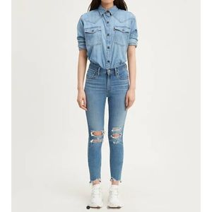 721 High Rise Skinny Ripped Women's Jeans